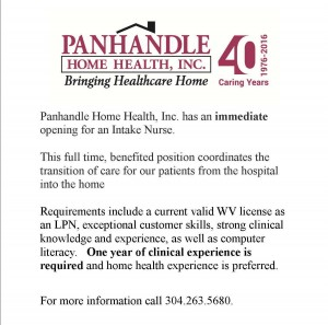 Panhandle Home Health Job Posting