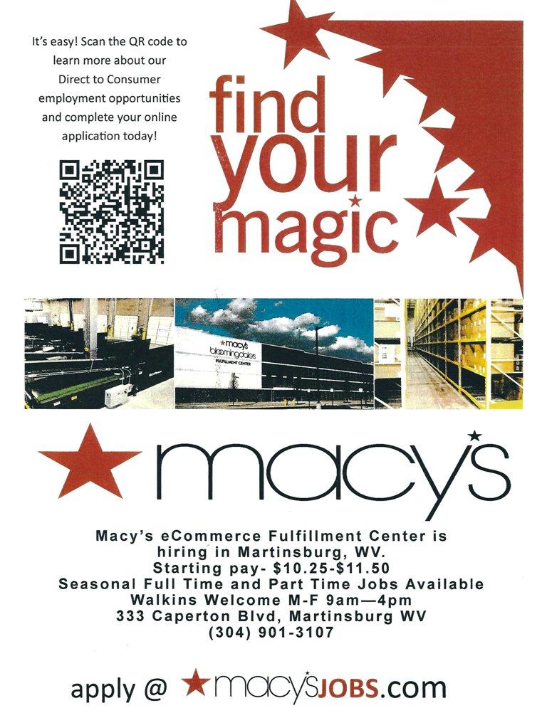 Macys Logistics And Operations Membership Martinsburg Berkeley